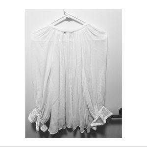 Zara white blouse  size XS